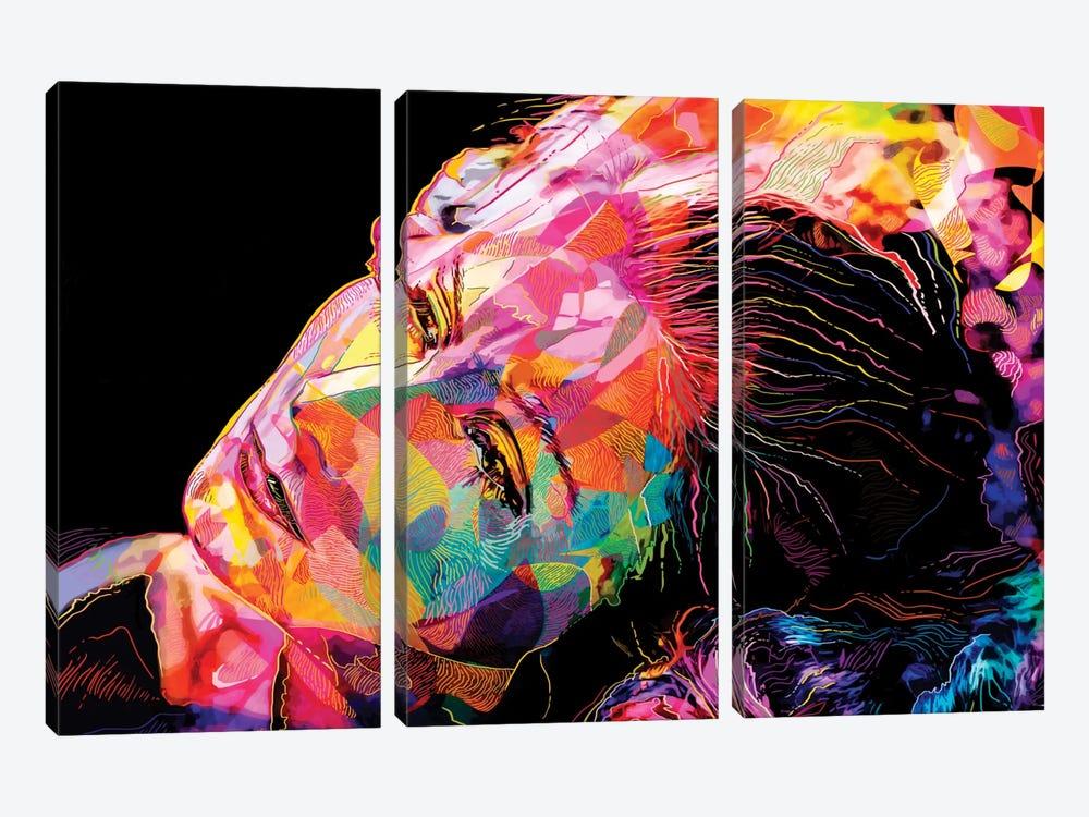 Greta Garbo by Alessandro Pautasso 3-piece Canvas Print