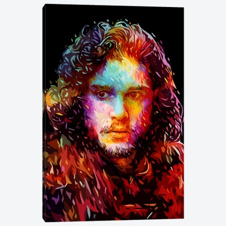 Jon Snow Canvas Print #APA33} by Alessandro Pautasso Canvas Art