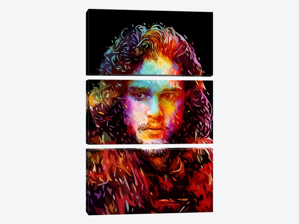 Jon Snow by Alessandro Pautasso 3-piece Art Print