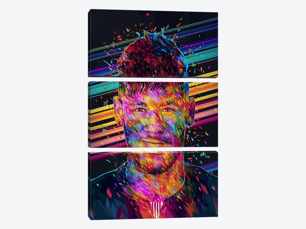 Neymar Jr. by Alessandro Pautasso 3-piece Art Print