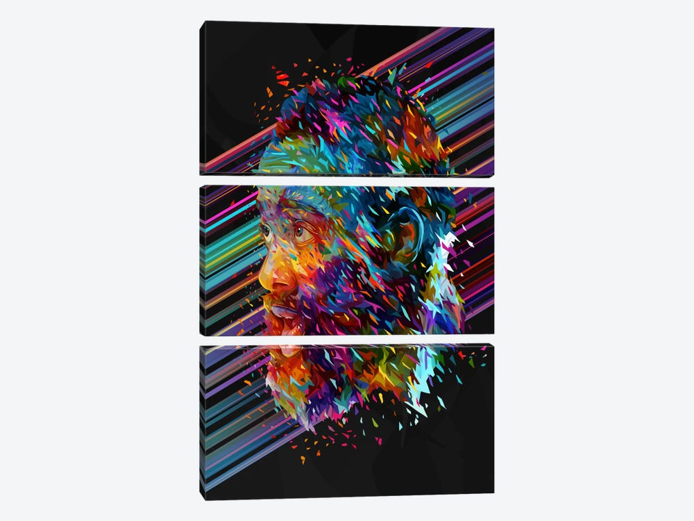 James Harden by Alessandro Pautasso 3-piece Canvas Artwork