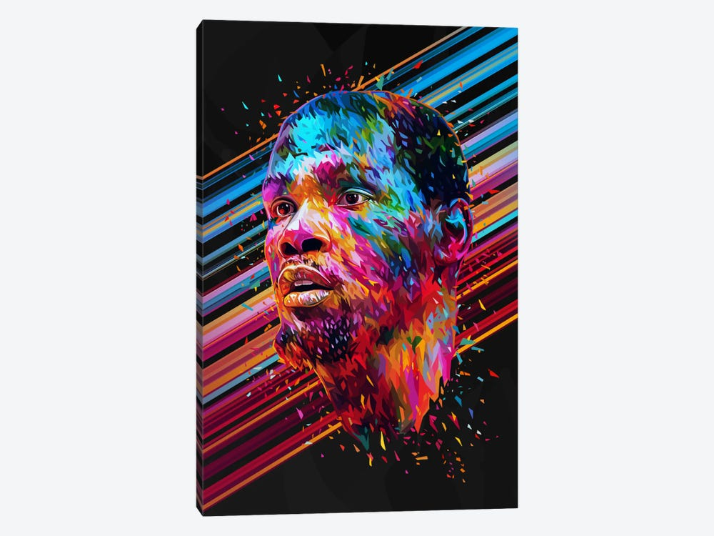 Kevin Durant by Alessandro Pautasso 1-piece Canvas Art Print