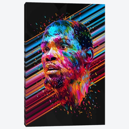 Kevin Durant Canvas Print #APA46} by Alessandro Pautasso Canvas Wall Art