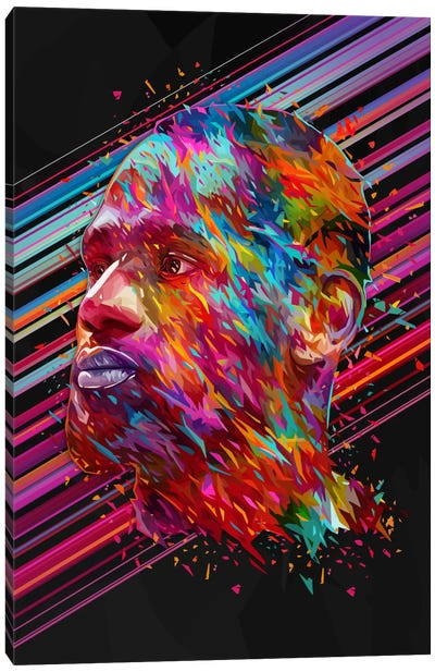 LeBron James Canvas Print #APA47