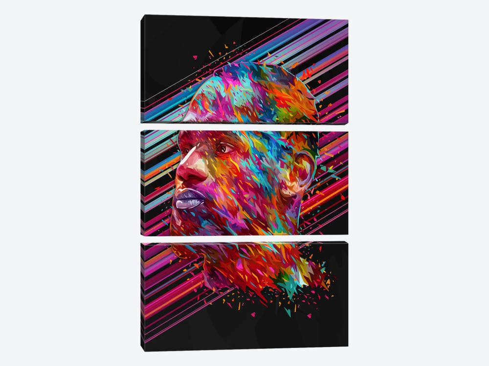 LeBron James by Alessandro Pautasso 3-piece Canvas Wall Art