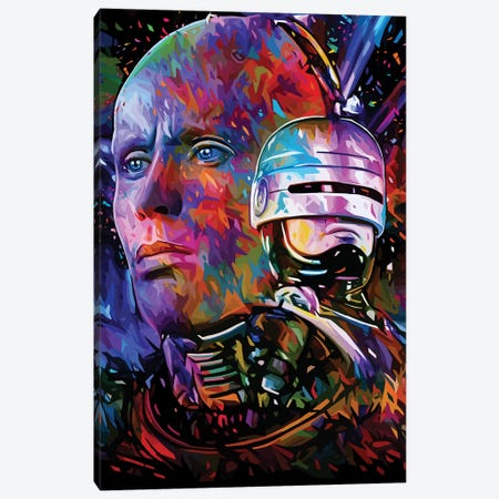 Robocop Canvas Print #APA53} by Alessandro Pautasso Canvas Wall Art