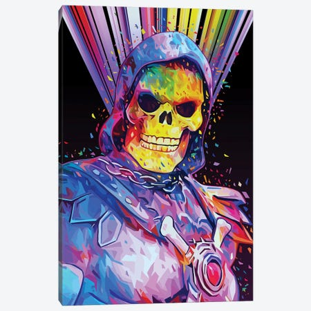 Skeletor Canvas Print #APA54} by Alessandro Pautasso Art Print