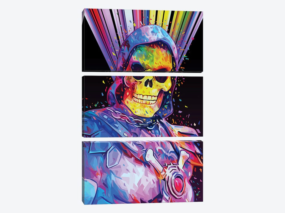 Skeletor by Alessandro Pautasso 3-piece Canvas Artwork