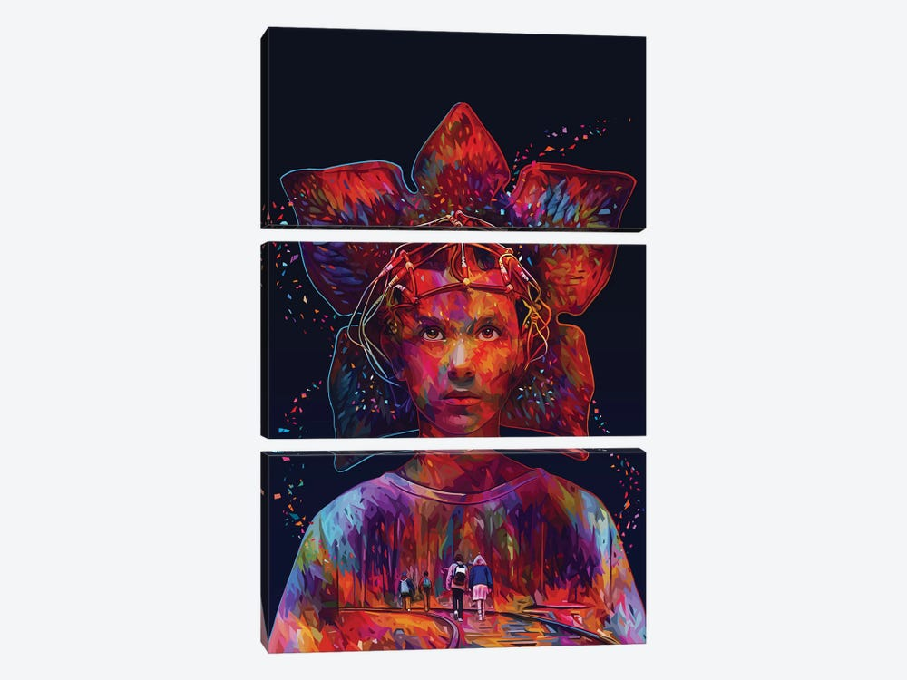 Stranger Things by Alessandro Pautasso 3-piece Canvas Wall Art