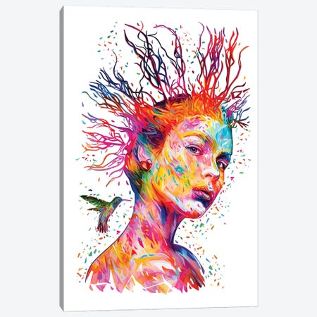 Queen Of Hearts Canvas Print #APA65} by Alessandro Pautasso Canvas Art