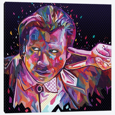 Travolta Pulp Fiction Canvas Print #APA66} by Alessandro Pautasso Canvas Wall Art