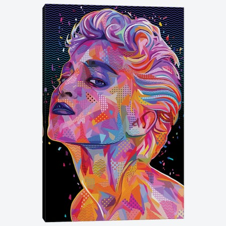Madonna Pop Canvas Print #APA68} by Alessandro Pautasso Art Print