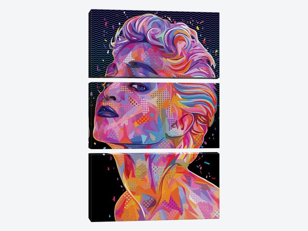 Madonna Pop by Alessandro Pautasso 3-piece Art Print