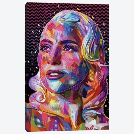 Lady Gaga Pop Canvas Print #APA69} by Alessandro Pautasso Canvas Print