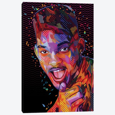 The Fresh Prince Pop Canvas Print #APA71} by Alessandro Pautasso Canvas Art