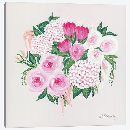 Blush Bouquet Canvas Print #APC13} by April Chavez Canvas Artwork