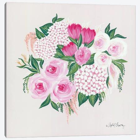 Blush Bouquet Canvas Print #APC13} by April Chavez Canvas Artwork