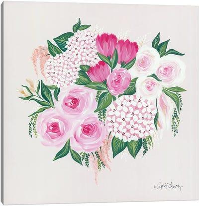 Blush Bouquet Canvas Art Print