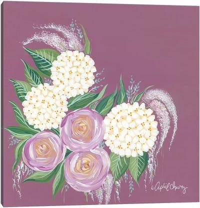 Floral in Plum Canvas Art Print