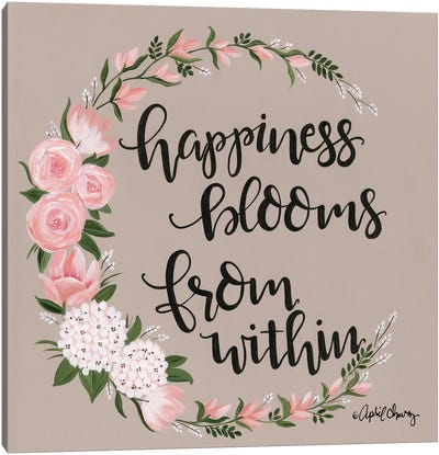 Happiness Blooms From Within Canvas Art Print