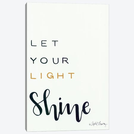 Let Your Light Shine Canvas Print #APC19} by April Chavez Canvas Art
