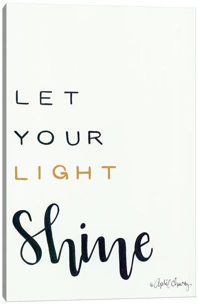 Let Your Light Shine Canvas Art Print