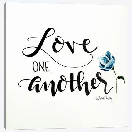 Love One Another   Canvas Print #APC20} by April Chavez Art Print