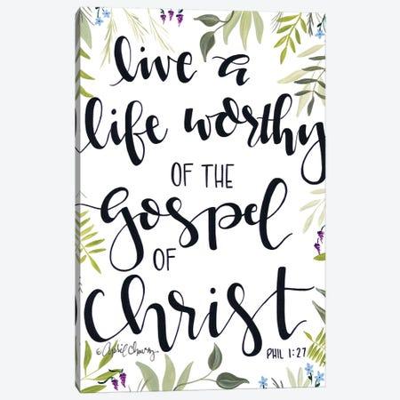 The Gospel Of Christ    3-Piece Canvas #APC21} by April Chavez Canvas Art Print