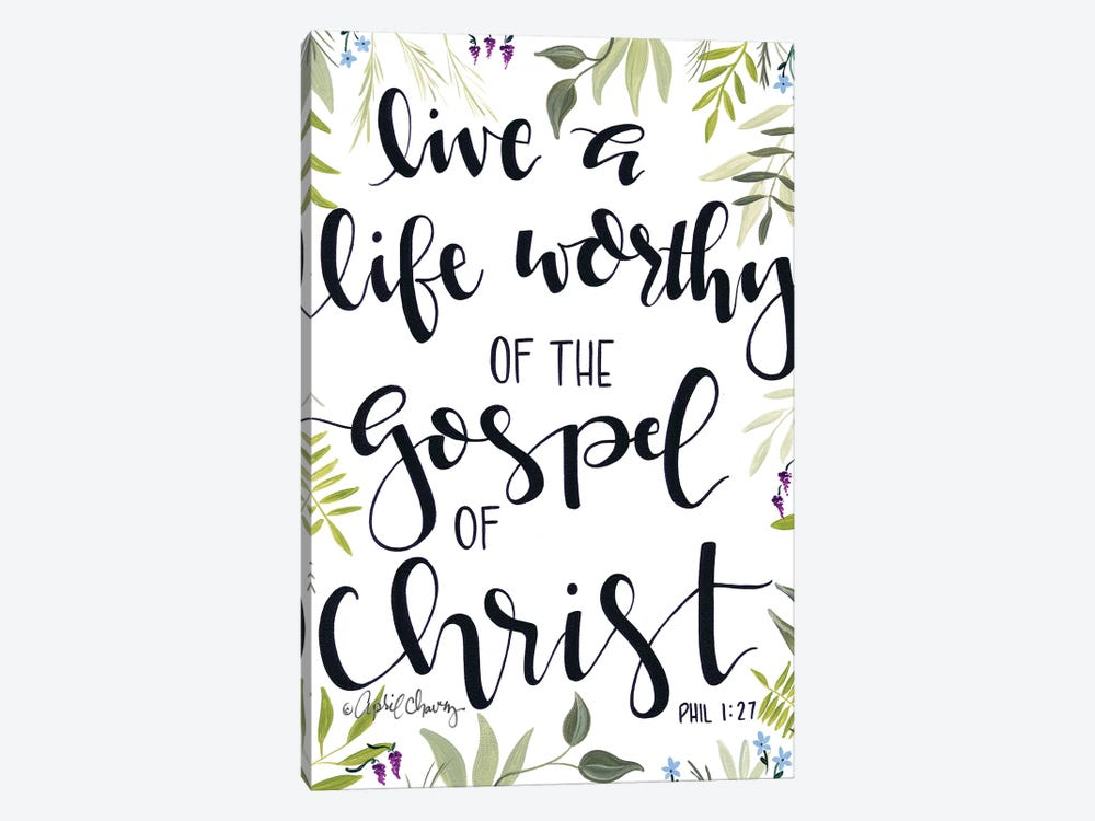 The Gospel Of Christ    by April Chavez 1-piece Art Print