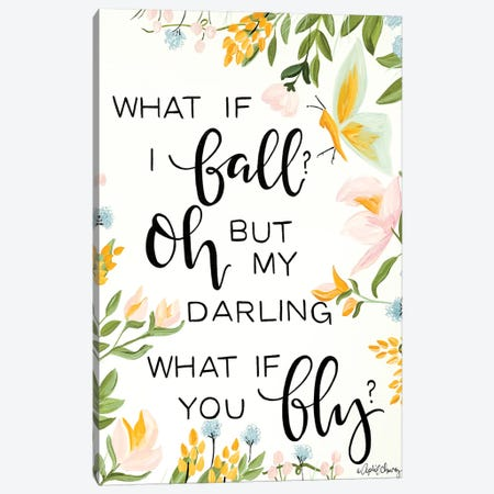 What If I Fall Canvas Print #APC24} by April Chavez Canvas Art