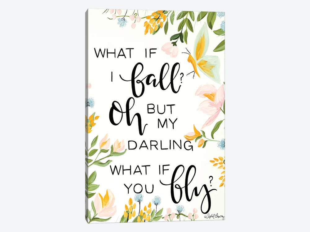 What If I Fall by April Chavez 1-piece Canvas Wall Art