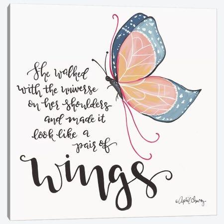 Wings Canvas Print #APC31} by April Chavez Canvas Wall Art