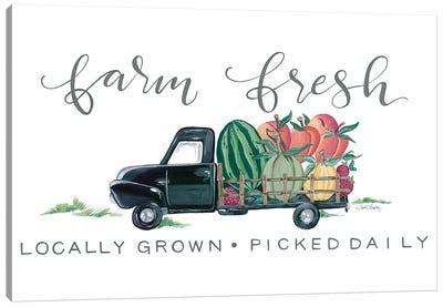 Farm Fresh Produce Truck Canvas Art Print