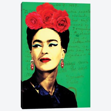 Frida Passion Ii Canvas Print #APH112} by Ana Paula Hoppe Canvas Print