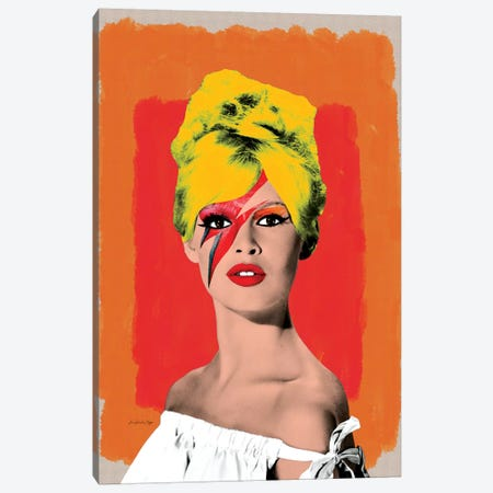Brigitte Bowie Canvas Print #APH11} by Ana Paula Hoppe Canvas Art Print
