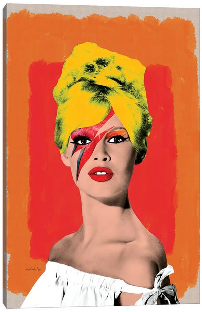 Brigitte Bowie Canvas Art Print