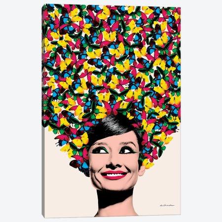 Butterflies In Audrey Canvas Print #APH16} by Ana Paula Hoppe Canvas Art
