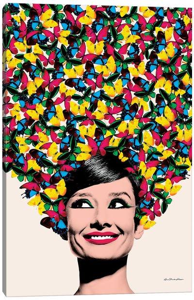 Butterflies In Audrey Canvas Art Print