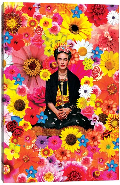 Flower Frida Canvas Art Print