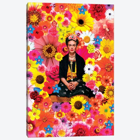 Flower Frida Canvas Print #APH26} by Ana Paula Hoppe Canvas Print