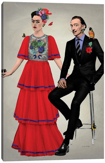 Frida & Dali Canvas Art Print