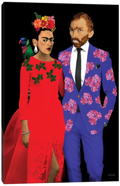 Frida & Gogh Canvas Art Print