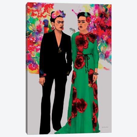 Frida Kahlo Lovers Canvas Print #APH29} by Ana Paula Hoppe Canvas Artwork