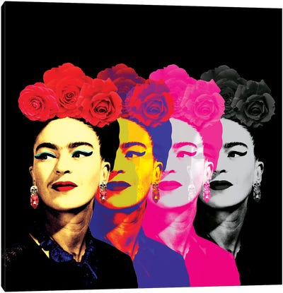 Fridas Black Canvas Art Print