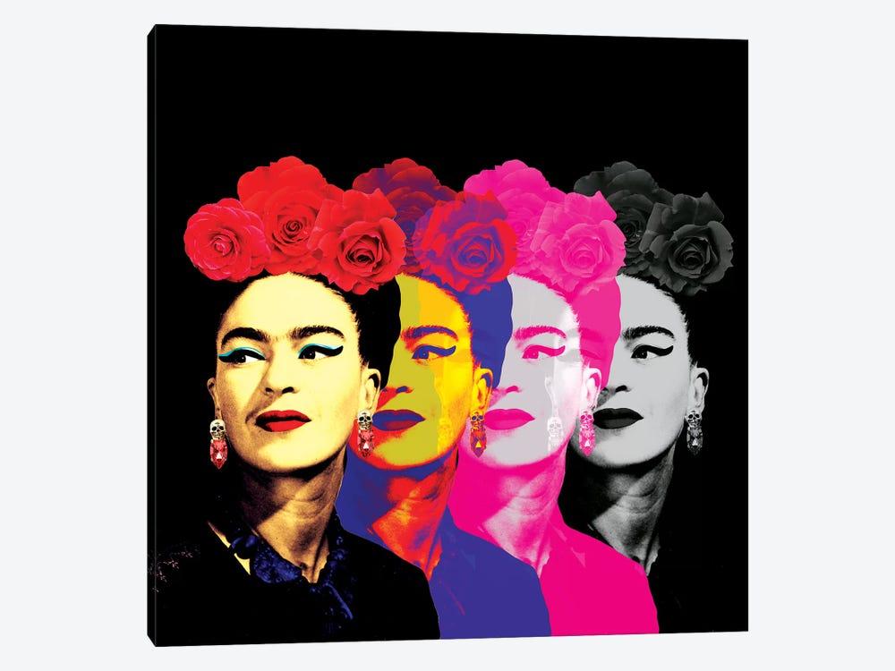 Fridas On Black by Ana Paula Hoppe 1-piece Canvas Artwork