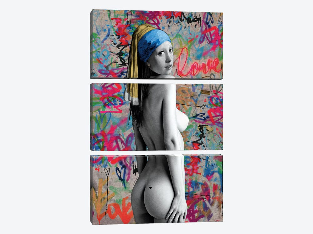 Griet Street Art by Ana Paula Hoppe 3-piece Canvas Artwork