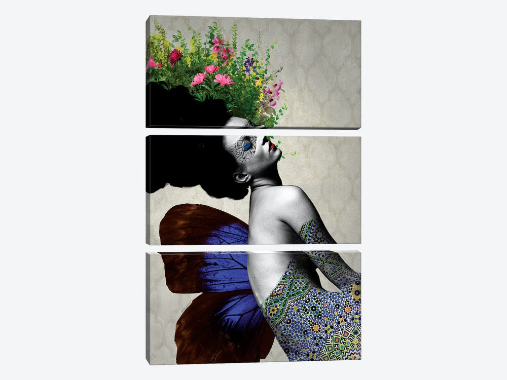 Kate Flowers by Ana Paula Hoppe 3-piece Canvas Art