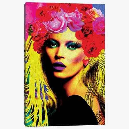 Kate Pop Art Canvas Print #APH37} by Ana Paula Hoppe Canvas Art