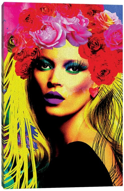 Kate Pop Art Canvas Art Print
