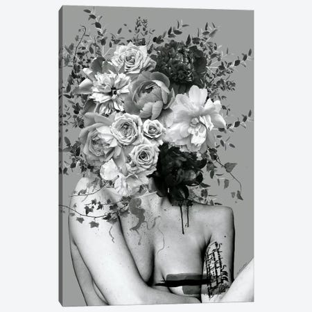 Lady Black And White Canvas Print #APH39} by Ana Paula Hoppe Canvas Art Print